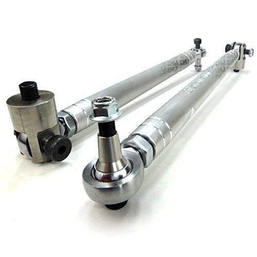 "50 Caliber Racing Heavy Duty Left and Right Tie Rod Set CNC Machined Billet Aluminum fits 2015+ Polaris RZR XP 1000 XP1000 2 & 4 Seats [TR1000B]:   Our Tie Rod Ends are machined right here in the USA from solid 6061 CNC Billet aluminum and fitted with 5/8 inch heat treated chromoly heim joints. The rods are 1.125"" diameter for extreme duty and they are as stout as it gets. We have done extensive testing on these rods racing BITD and WORCS Racing and have had great results. They are des..."