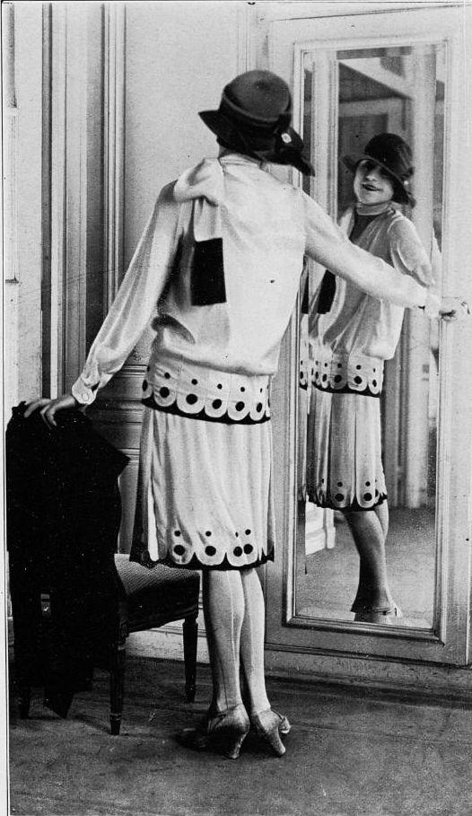 1926 Ensemble de la Blanche Lebouvier #1920sFashion #1920sDresses