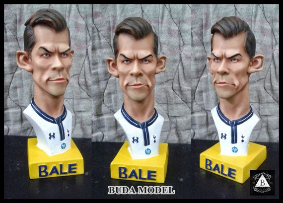 Gareth Bale.Resin.Bust Statue Caricature by BUDAMODEL on Etsy