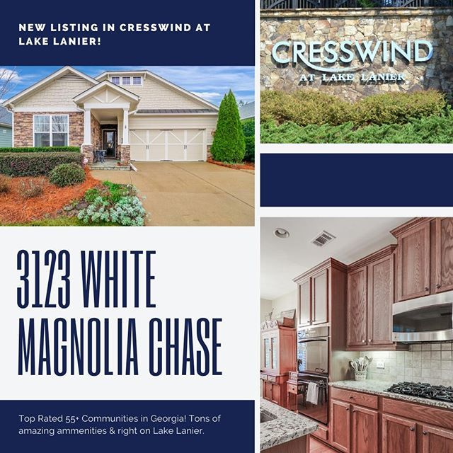 Brand New Listing At Cresswind At Lake Lanier 3123 White Magnolia Chase Is A Beautiful Craftsman Ranch In One Of In 2020 White Magnolia Craftsman Ranch Senior Living