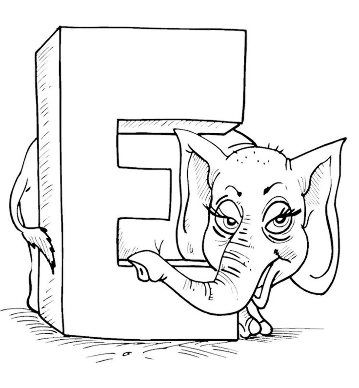 e alphabet coloring pages - photo #34