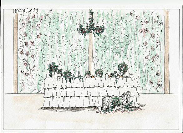 """Эскиз к свадьбе в стиле """"Английский сад"""" Организация свадьбы в Краснодаре Флористика и декор Barbaris Flowers Организация свадебное агентство """"Счастливые истории"""" #happystorieswed"""