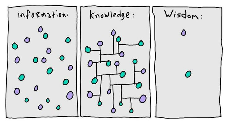Information, knowledge, wisdom