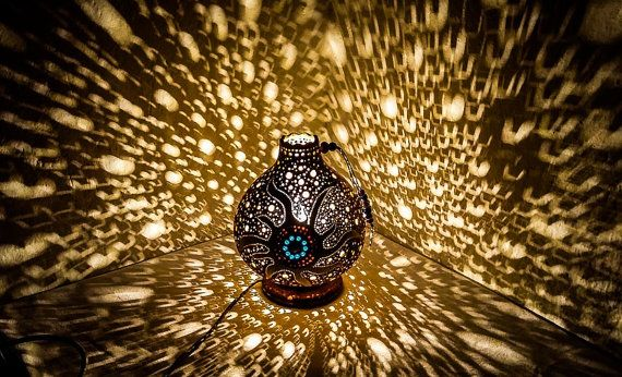 Gourdlamp gourd lamp shiny lamp Ottoman Turkish lamp pendant