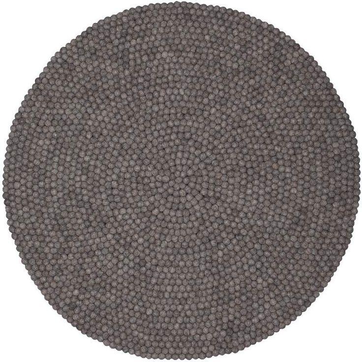 Beautiful Filzkugel Teppich NATURLINIE rund myfelt einrichten design de