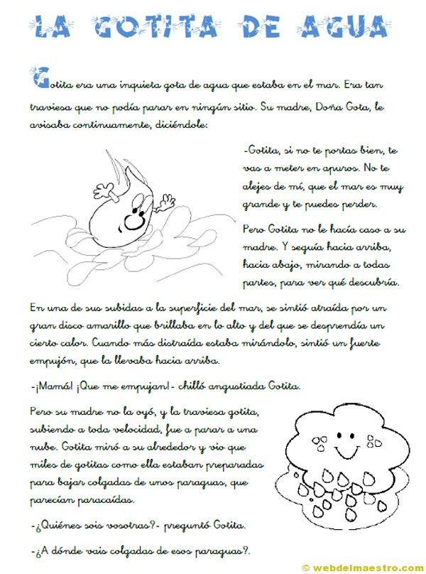 La gotita de Agua - a good story for the spring