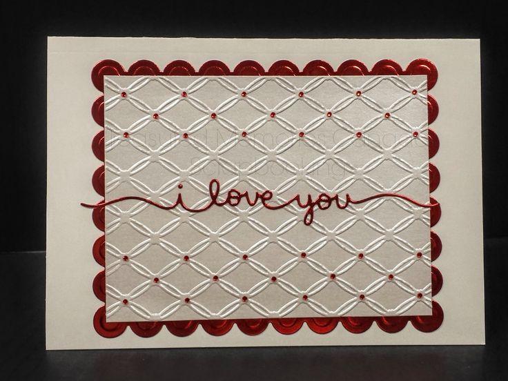 I love you valentine's day card www.treasuredmemoriescanada #valentine'sday #valentine #greetingcard #TMC #handmade #scrapbooking