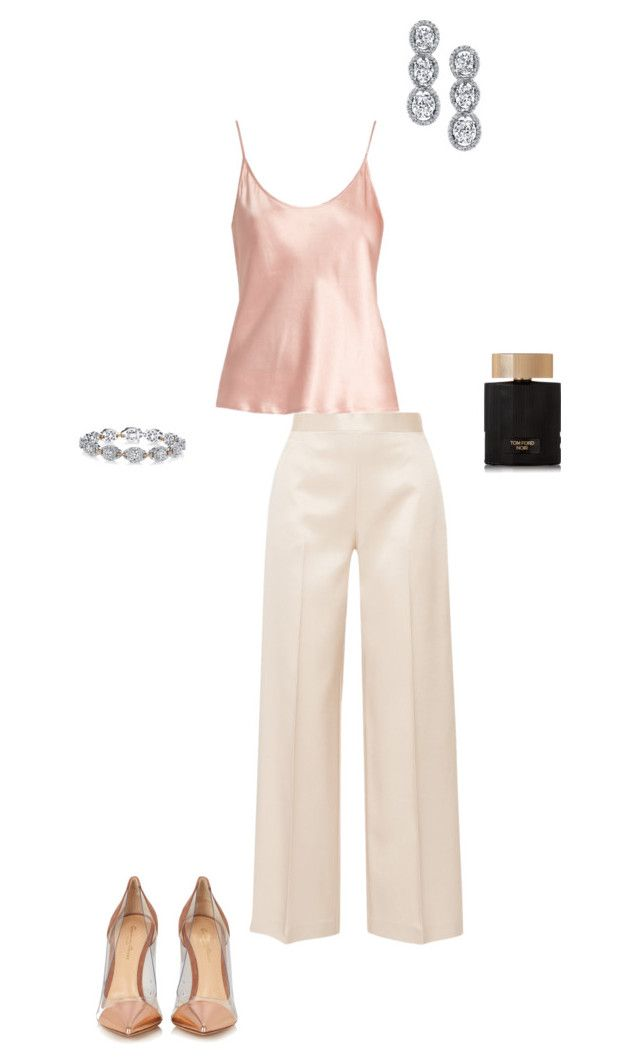 """""""Rose Bold"""" by nujixo on Polyvore featuring The Row, La Perla, Harry Kotlar, Tom Ford, Gianvito Rossi and rosegold"""