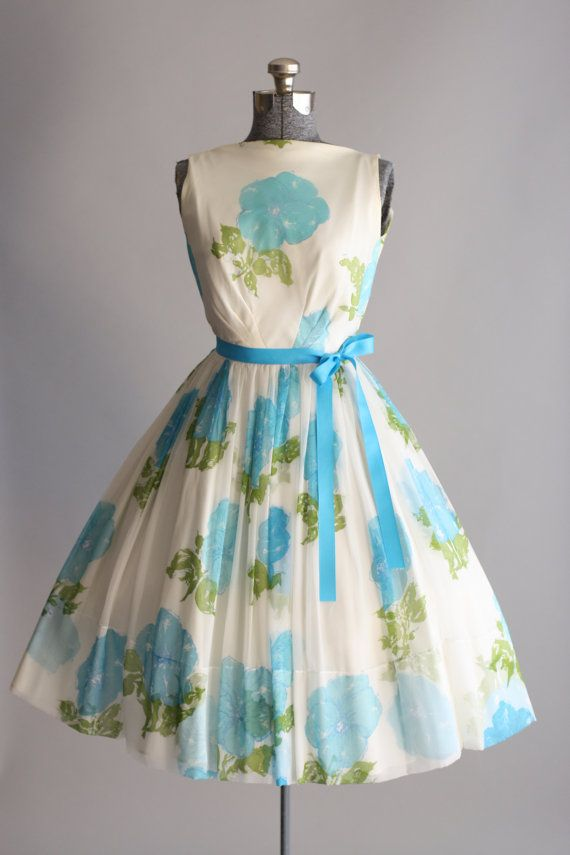 Vintage 1950s Dress / 50s Party Dress / by TuesdayRoseVintage