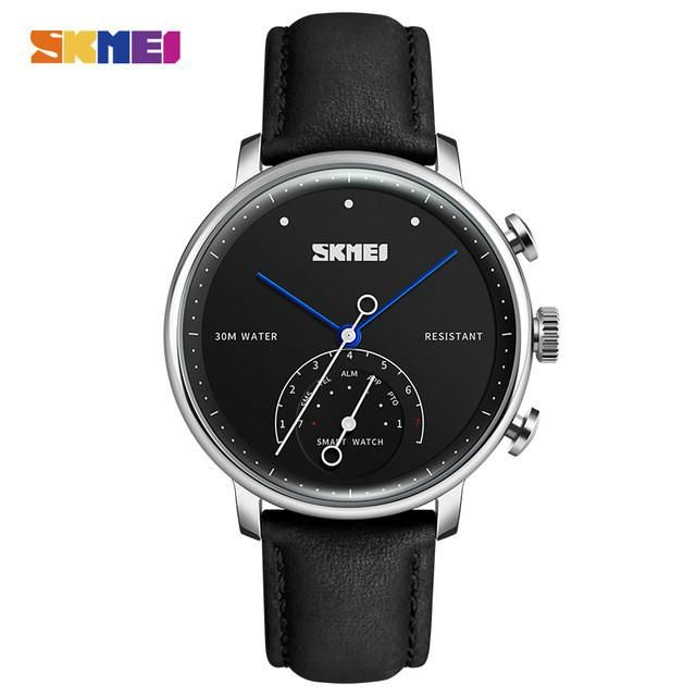 SKMEI Fashion Smart Watch Men Luxury Brand Auto-Time Call Message Reminder Quartz Wristwatches Pedometer