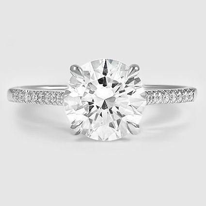 Our Lissome Diamond Ring set with a 1.81 carat round diamond. #BrilliantEarth