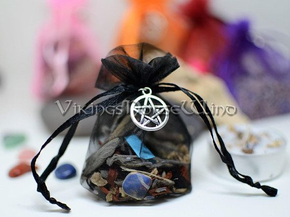 Mojo Bag Gris Spell Herbs Sachets Wicca Bags Good Luck Amulet Hoodoo Runes Charm Herbal Protection Talisman