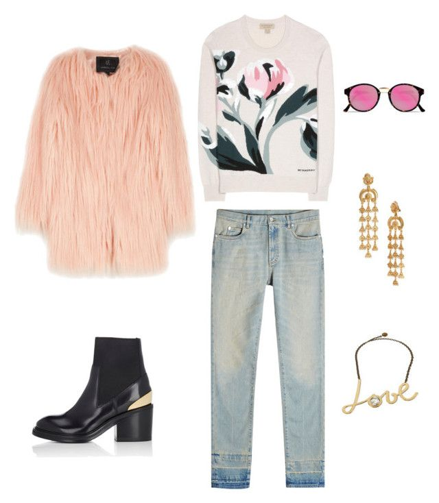 """Untitled #1"" by helen-jiang-1 on Polyvore featuring Acne Studios, RetroSuperFuture, Unreal Fur, Maison Margiela, Lanvin, Oscar de la Renta and Burberry"