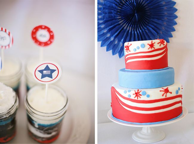 4th of July Party Printable Cucake Toppers