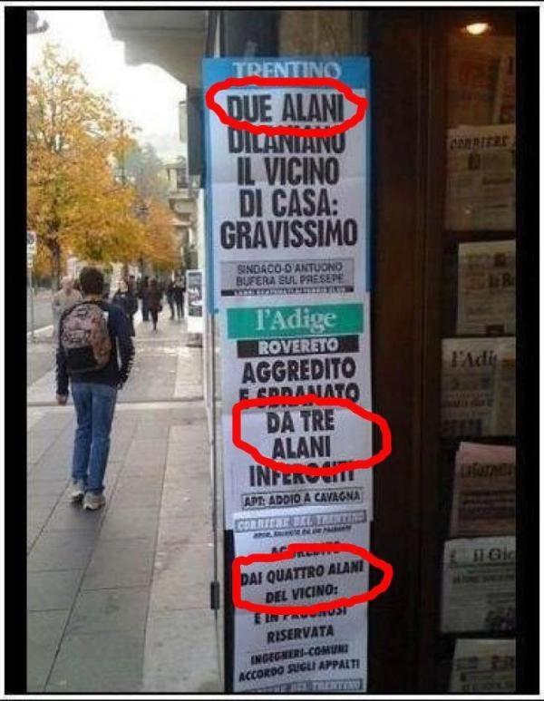 La relatività dei dati nell'informazione italiana.