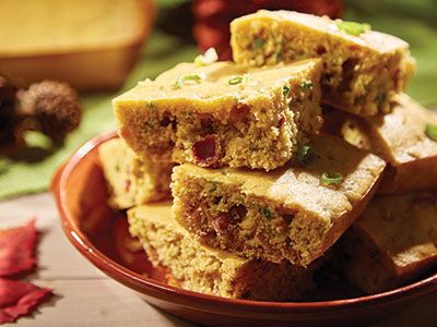 Bacon And Scallion Cornbread Recipes Comfort Foods In Copper Sq
