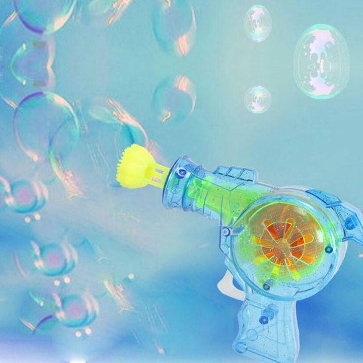 Светодиод, Просвечивающий пузырь пистолет Открытый игрушки детские мыло мыльные пузыри детские игрушки детские игрушки подарок пушки воды хороший пакет Бесплатно доставка
