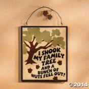 Family Tree Nut Sign