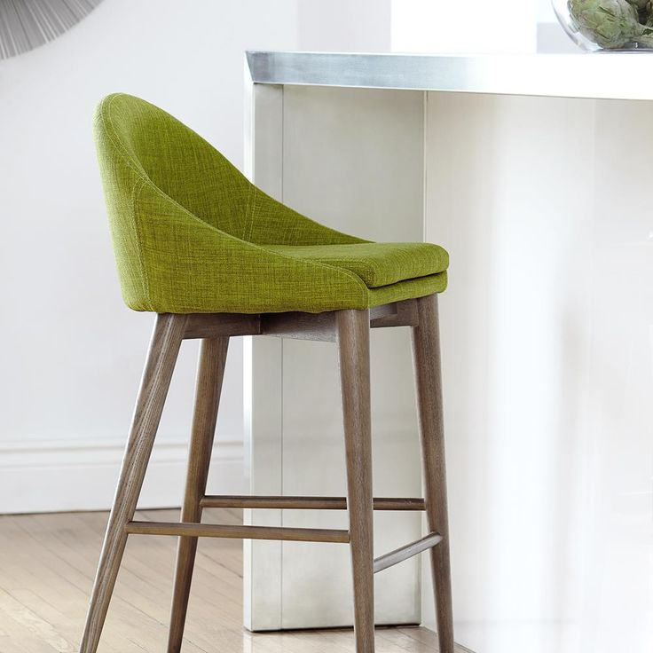 Atelier - Vintage Mod - Fabric counter stool with wood legs/BAR STOOLS/SEATING/SHOP BY PRODUCT/ATELIER BOUCLAIR|Bouclair.com
