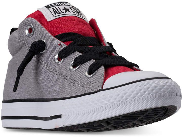 b5493d98dfc3 Converse Little Boys  Chuck Taylor All Star Street Mid Casual Sneakers from Finish  Line