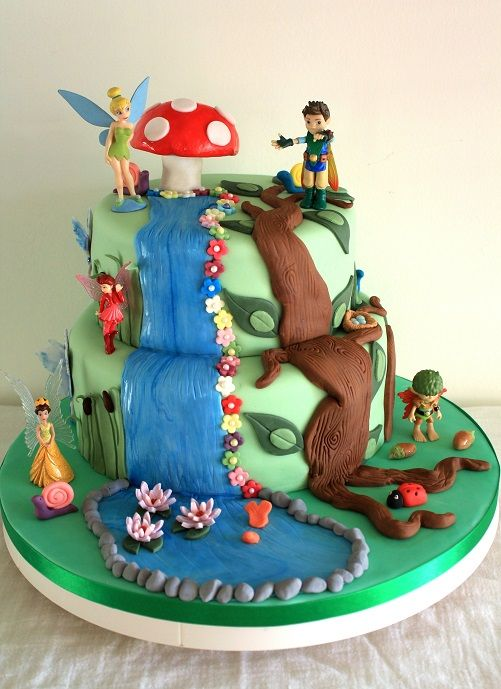 Tinkerbell and Tree Fu Tom cake