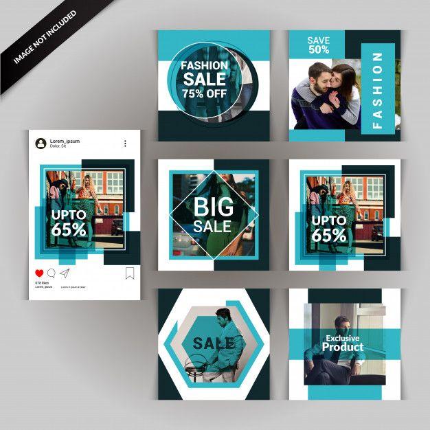 Fashion Social Media Post Template In 2020 Social Media Design Graphics Instagram Template Design Social Media Design Inspiration