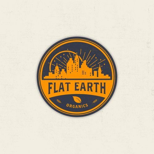 Flat Earth Organics 鈥?20Create a logo for an explosive new organic company