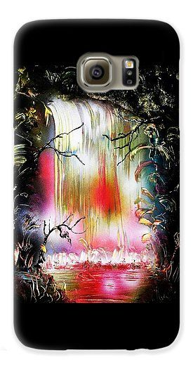 Printed with Fine Art spray painting image Dream Waterfall by Nandor Molnar (When you visit the Shop, change the orientation, background color and image size as you wish)