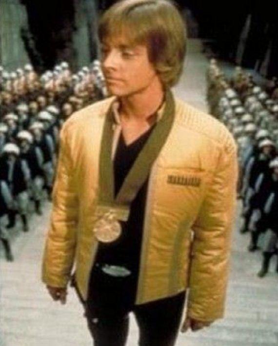 Luke Skywalker Star Wars Yellow Jacket Top Celebs Jackets Leather Jacket Men Jackets Star Wars Luke Skywalker