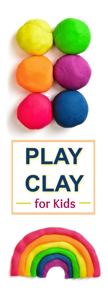 2 INGREDIENT PLAY CLAY RECIPE FOR KIDS (no cook, easy recipe!) #playrecipesforkids #kidscrafts #clayrecipe