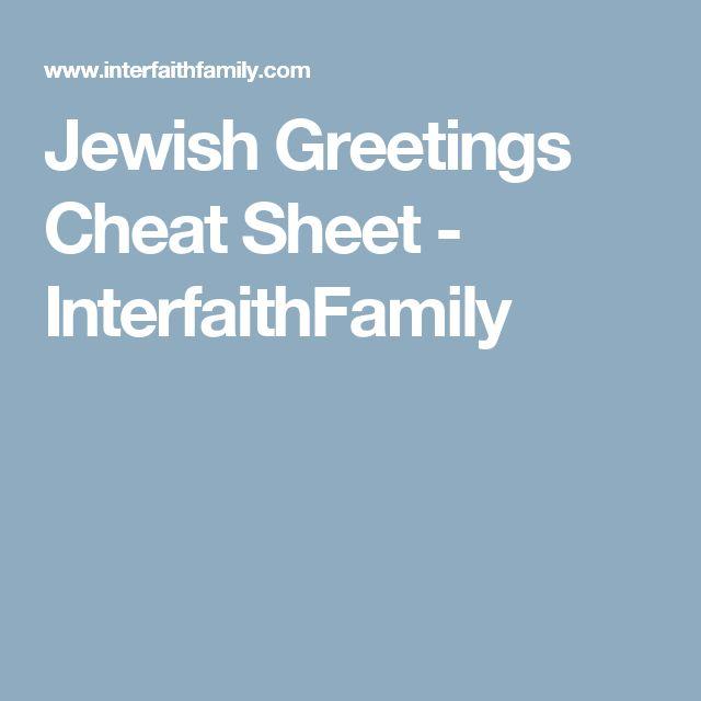Jewish Greetings Cheat Sheet - InterfaithFamily