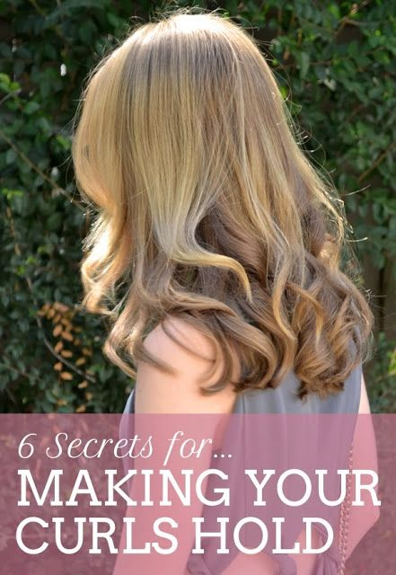 6 Secrets For Making Your Curls Hold -  Every girl wants her hair to look as good at the end of the night as it does when you step out of the salon. And as a girl with stick-straight strands let me tell you… there's nothing more frustrating than spending 45 minutes curling your tresses only to have your perfect waves fall flat before you've made it out the door.