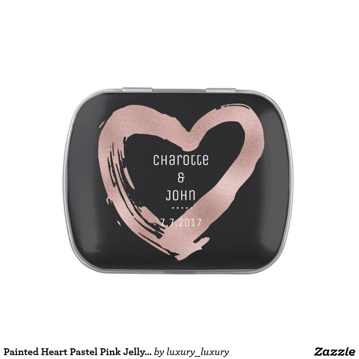Painted Heart Pastel Pink Jelly Belly™ Candy Jelly Belly Tin
