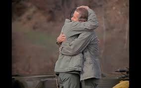 Hawkeye & B.J. saying, Goodbye, Farewell and Amen.