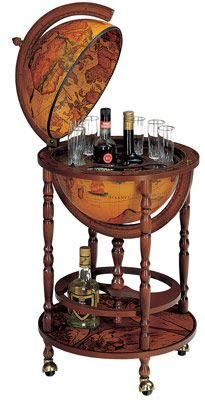 I think I want this in my library. So it looks all business, but it's really all party. : Ideas, Globe Bar I, World Globes, Globe Drinks, Globes Diy, Elanisimo Globe Bar, Globe Bar For