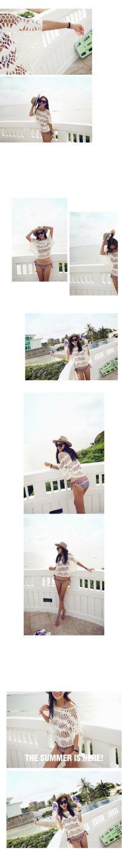 2014 coreano Mulheres Bikini Tampa Ups Oca Bat Blusa de manga gancho solto Flor Bikini Beach Camisa Blusa livre Dropshipping-in Cover-ups de Roupas Femininas e Acessórios em Aliexpress.com   Alibaba Group