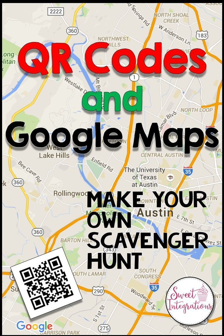 Poster design with qr code - Create Your Own Scavenger Hunt For Your Classroom With Qr Codes And Google Maps You