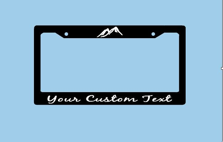 Mountains Custom License Plate Frame | Mountains License Plate Holder | Hiking Adventure License Plate