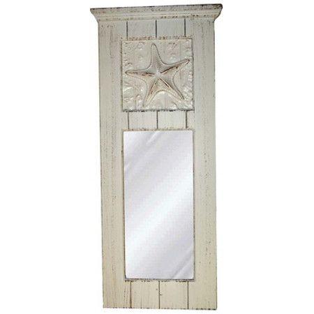 Starfish Bathroom Decor | Coastal Starfish Mirror