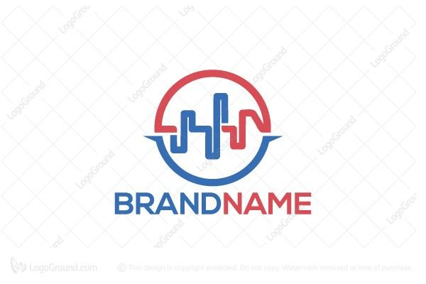 Logo for sale: Double Pulse Logo