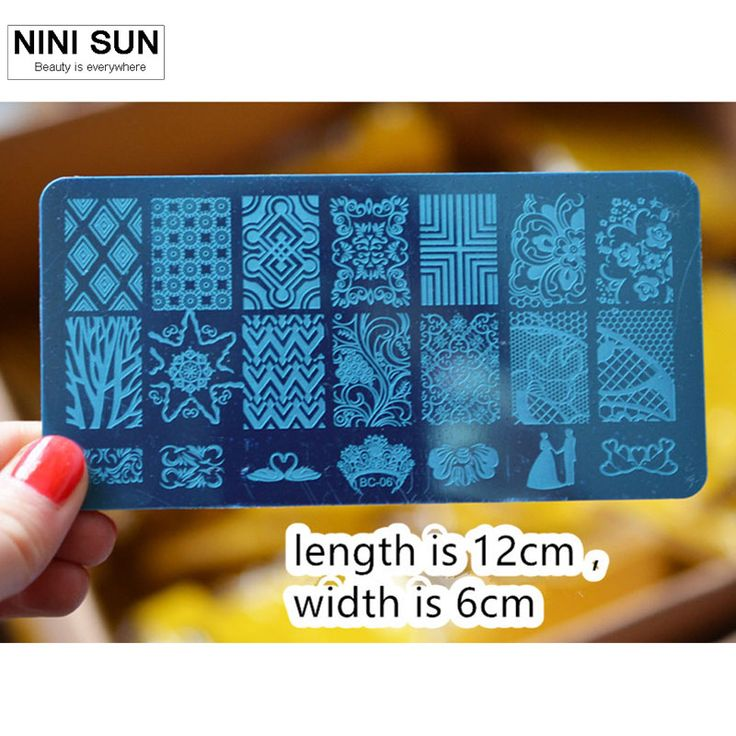 10PCS/lot Nail Konad Image Stamp Plate Stainless Steel DIY Manicure Polaco Printer Tool Templates Nail Art Stamping Plates