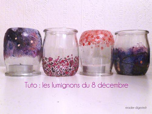 Exemples de lumignons personnalisés pour le 8 décembre à Lyon