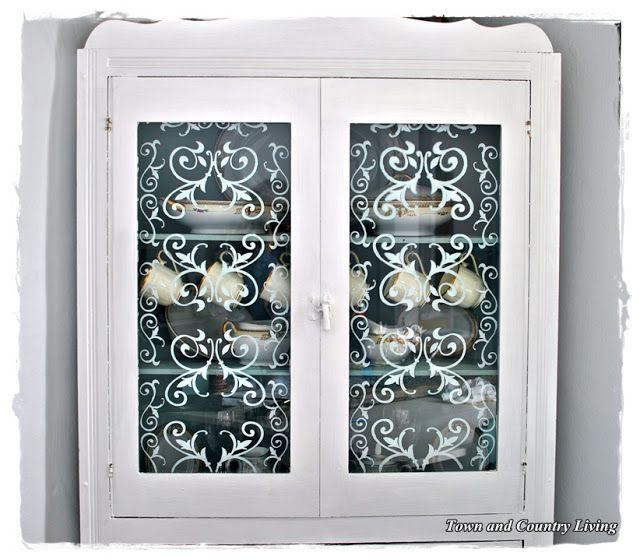 Decals For Kitchen Cabinet Doors: Faux Etched & Stained Glass