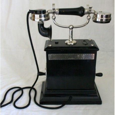 Tel fono antiguo de los a os 1910 de origen sueco for Telefono oficina