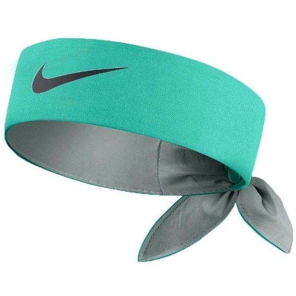 Nike Head Tie Headband [Lt RETRO (Teal)/Navy] (234.860 IDR) ❤ liked on Polyvore featuring accessories, hair accessories, hair bands accessories, nike hairband, retro headbands, nike and hair band headband