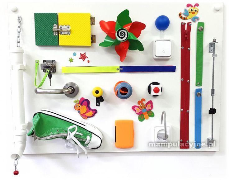 tablica manipulacyjna zabawka sensoryczna Bucik