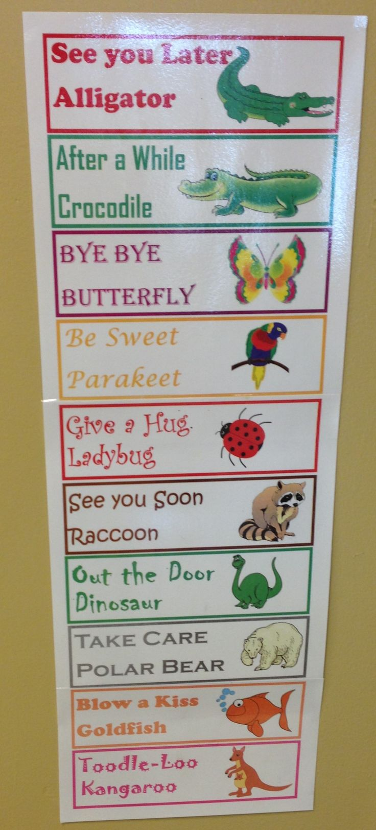 ***FREEBIE*** Fun farewells that expose your kiddos to rhyming words! Which is your favorite? :)