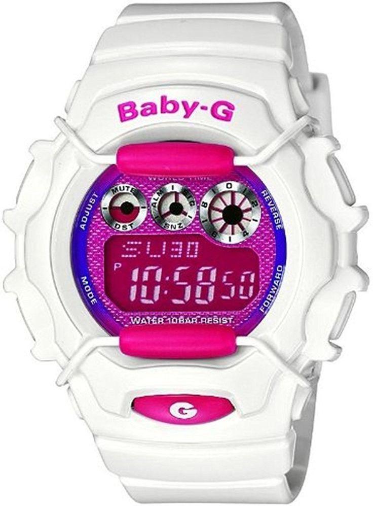 Casio Baby G Tough White Metallic Pink Dial Ladies Watch BG1006SA-7A