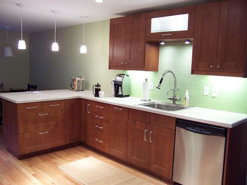 adel medium brown w light countertops excellent task
