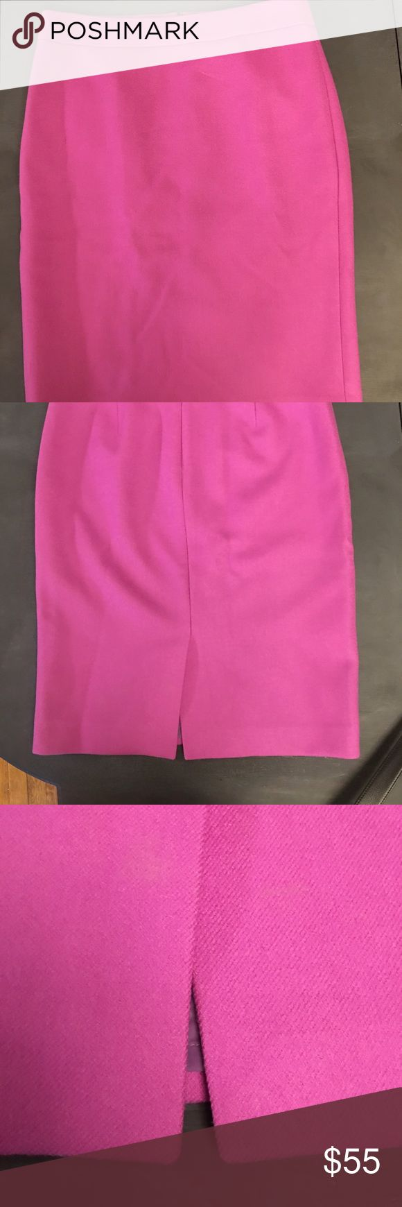 J. Crew fuchsia wool pencil skirt Absolutely gorgeous J. Crew fuchsia pencil skirt. In excellent condition! This skirt is made of 100% wool and it's very classy J. Crew Skirts Pencil